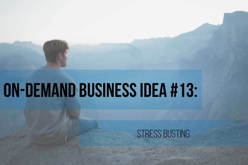 On-demand business idea #13: stress busting